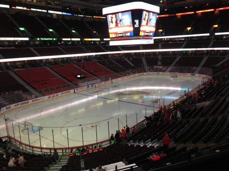 Seating view for Canadian Tire Centre Section 212 Row C Seat 9