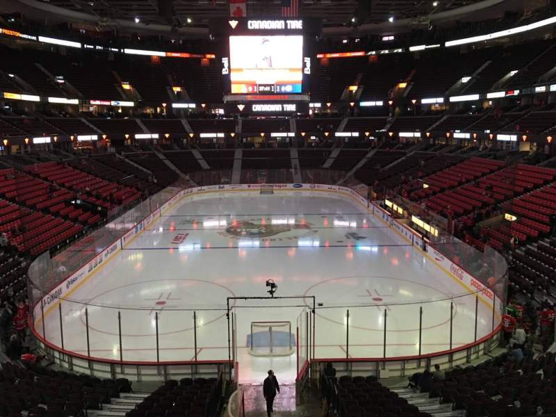 Seating view for Canadian Tire Centre Section 215 Row B Seat 11