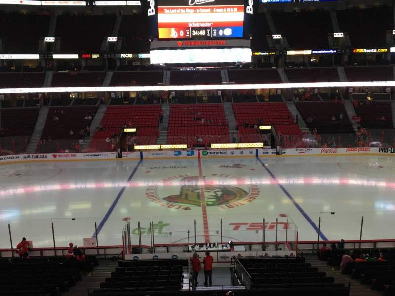 Seating view for Canadian Tire Centre Section 222 Row B Seat 11
