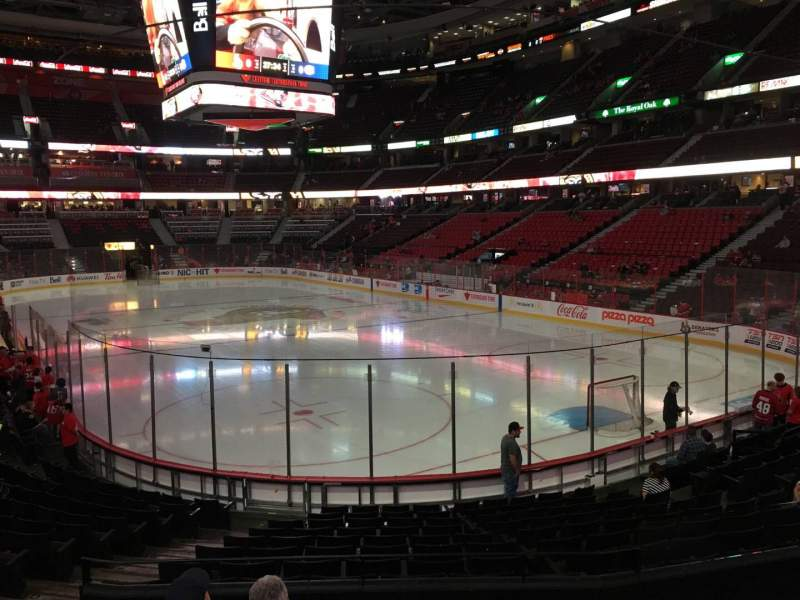 Seating view for Canadian Tire Centre Section 102 Row O Seat 17