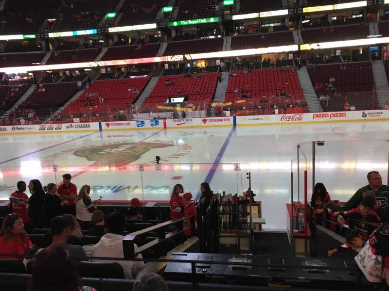 Seating view for Canadian Tire Centre Section 105 Row L Seat 11