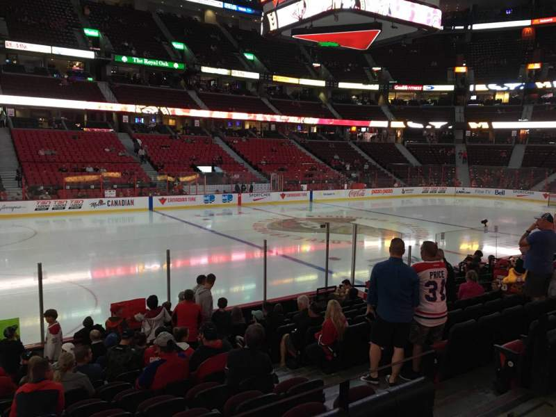 Seating view for Canadian Tire Centre Section 108 Row L Seat 6