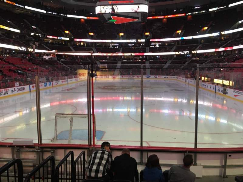 Seating view for Canadian Tire Centre Section 111 Row G Seat 3