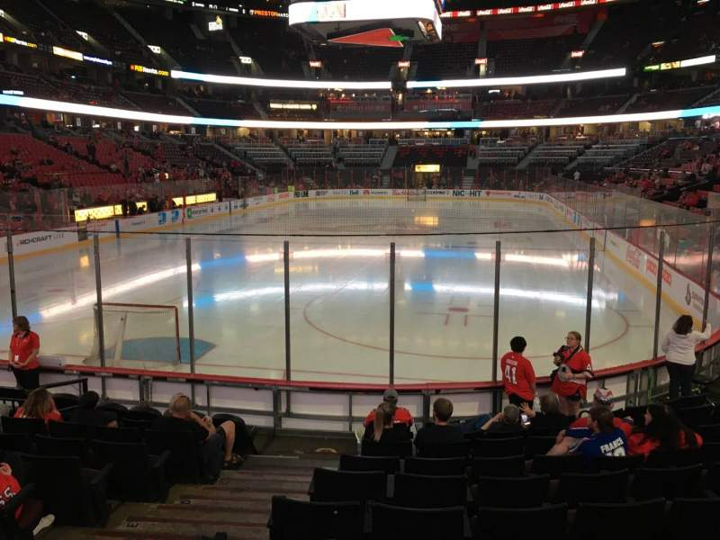 Seating view for Canadian Tire Centre Section 120 Row K Seat 6