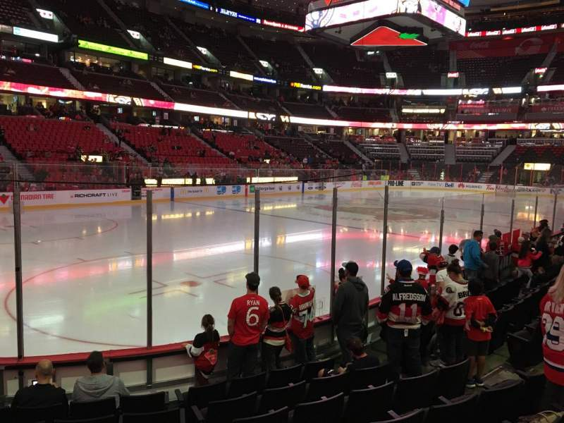 Seating view for Canadian Tire Centre Section 119 Row H Seat 9