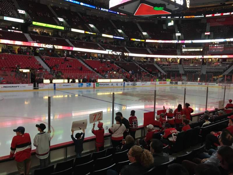 Seating view for Canadian Tire Centre Section 118 Row G Seat 8