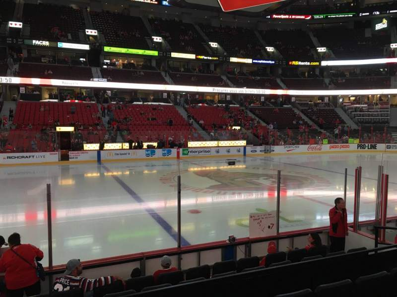 Seating view for Canadian Tire Centre Section 117 Row H Seat 10