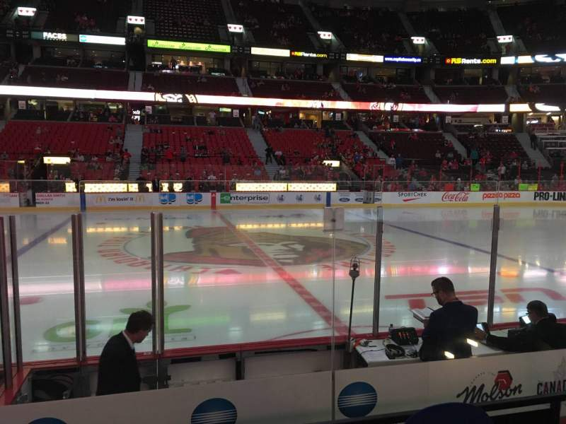Seating view for Canadian Tire Centre Section 116 Row F Seat 16