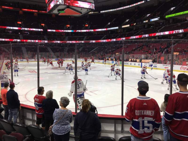 Seating view for Canadian Tire Centre Section 112 Row F Seat 14