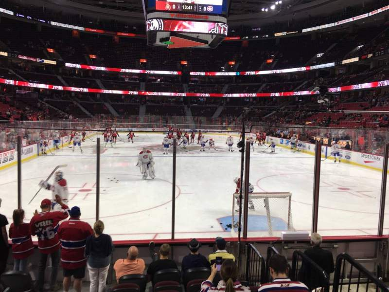 Seating view for Canadian Tire Centre Section 111 Row G Seat 16
