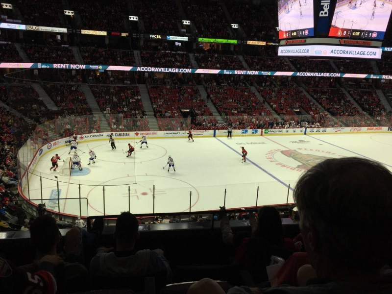 Seating view for Canadian Tire Centre Section 224 Row D Seat 15