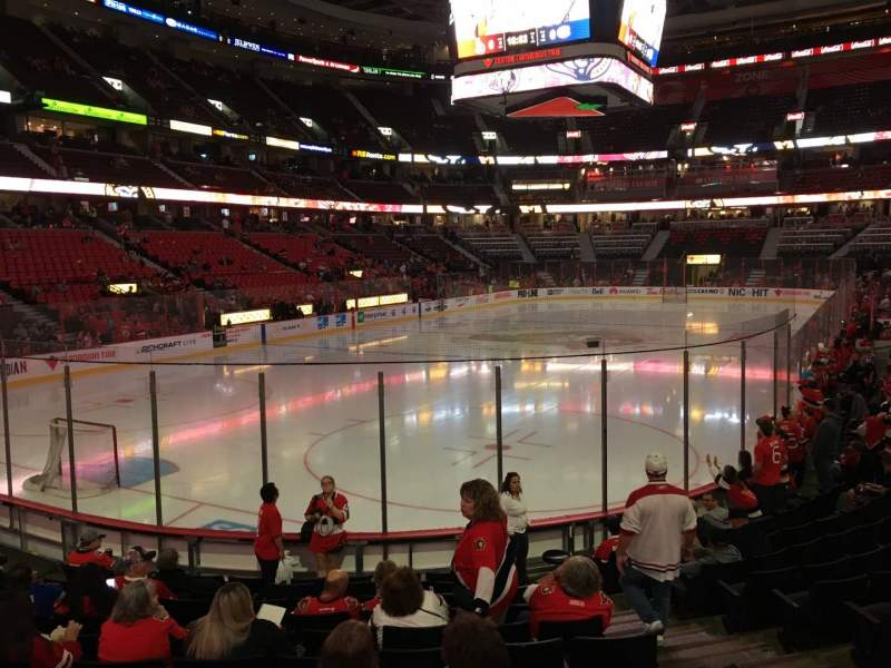 Seating view for Canadian Tire Centre Section 120 Row L Seat 4