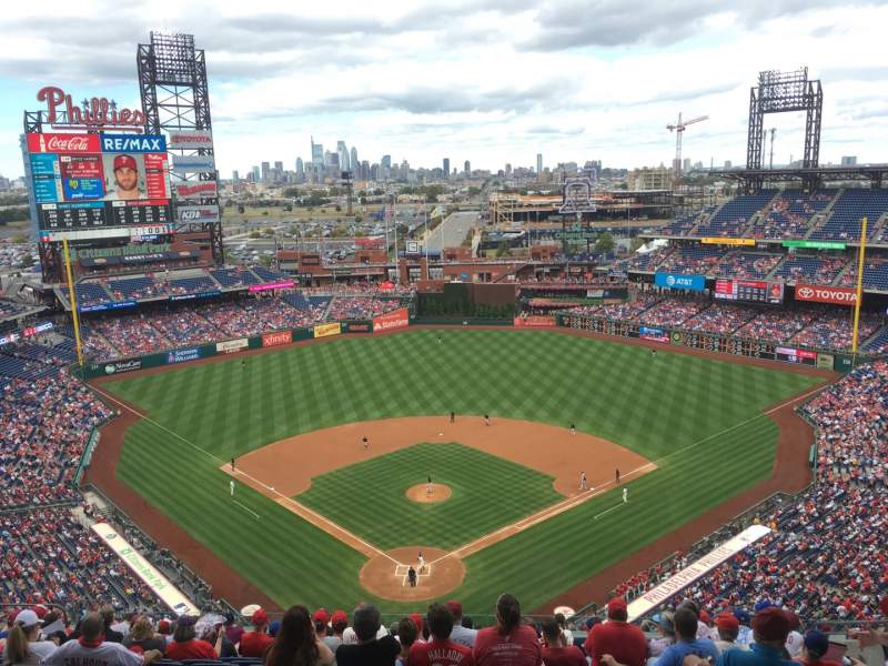 Seating view for Citizens Bank Park Section 420 Row 16 Seat 9