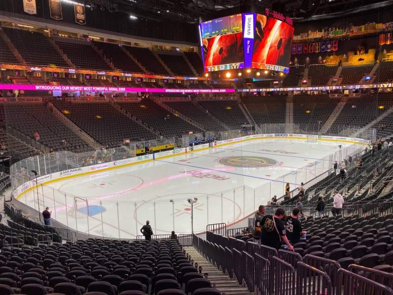 Seating view for T-Mobile Arena Section 12 Row V Seat 23