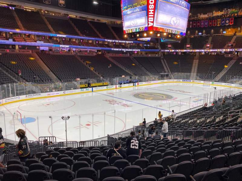 Seating view for T-Mobile Arena Section 13 Row S Seat 7