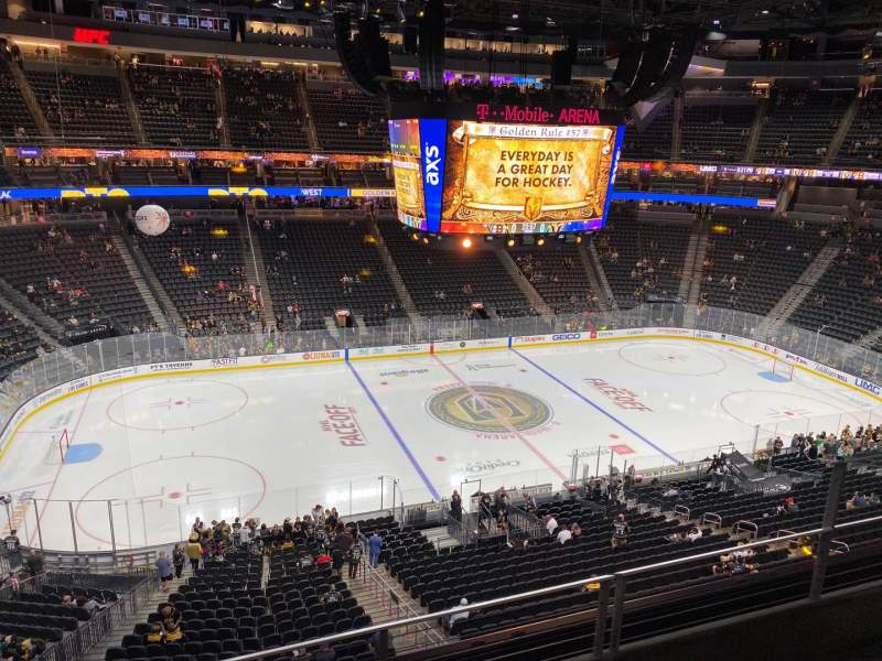 Seating view for T-Mobile Arena Section 203 Row C Seat 10