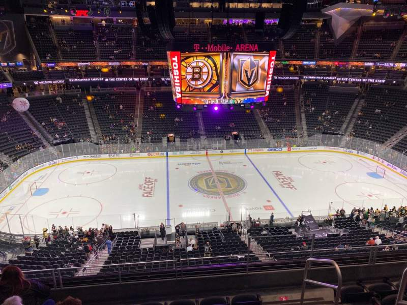 Seating view for T-Mobile Arena Section 204 Row F Seat 16