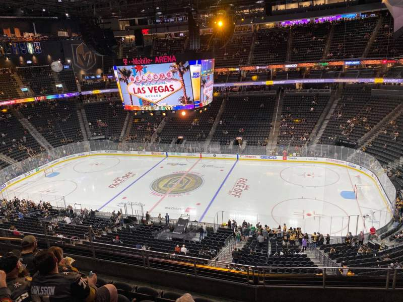 Seating view for T-Mobile Arena Section 207 Row F Seat 8