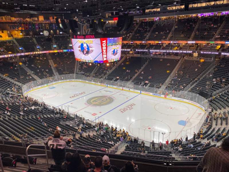 Seating view for T-Mobile Arena Section 209 Row G Seat 7