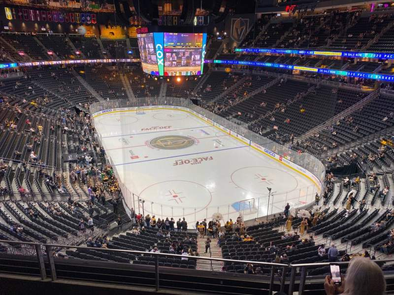 Seating view for T-Mobile Arena Section 212 Row C Seat 6