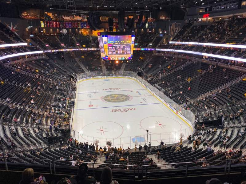 Seating view for T-Mobile Arena Section 213 Row E Seat 8