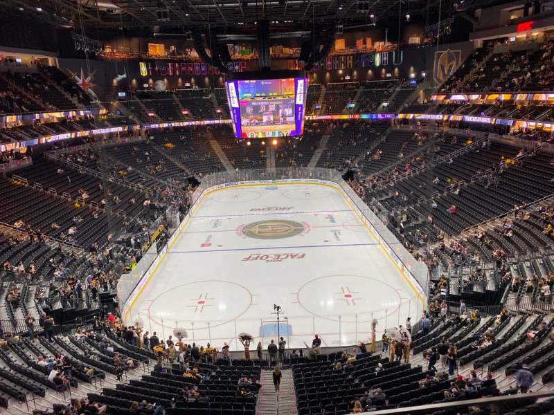 Seating view for T-Mobile Arena Section 214 Row B Seat 8