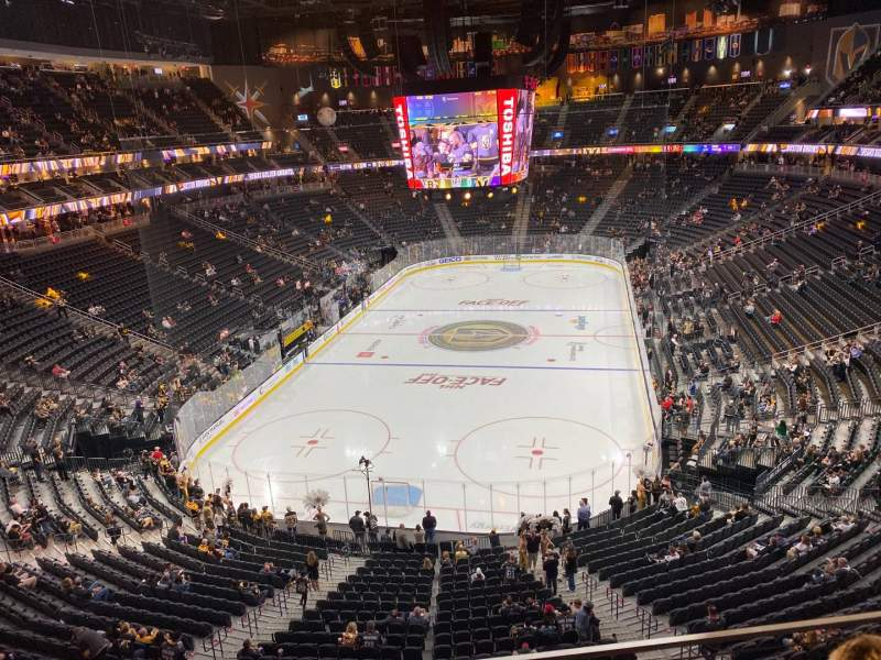 Seating view for T-Mobile Arena Section 215 Row B Seat 10