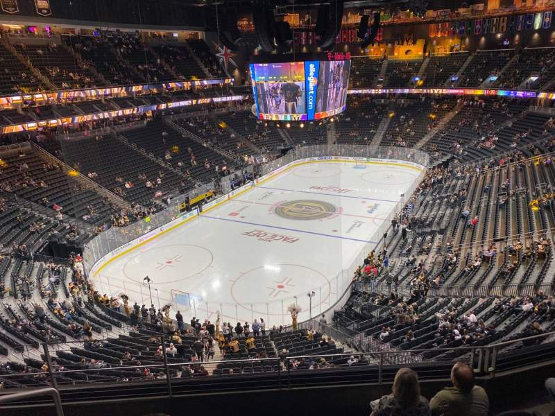 Seating view for T-Mobile Arena Section 217 Row E Seat 3