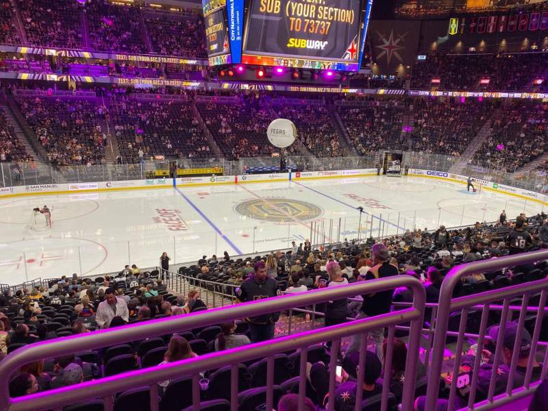 Seating view for T-Mobile Arena Section 14 Row Wc Seat 3