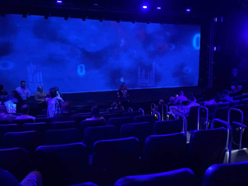 Seating view for Blue Man Group Theater Section 102 Row H Seat 22