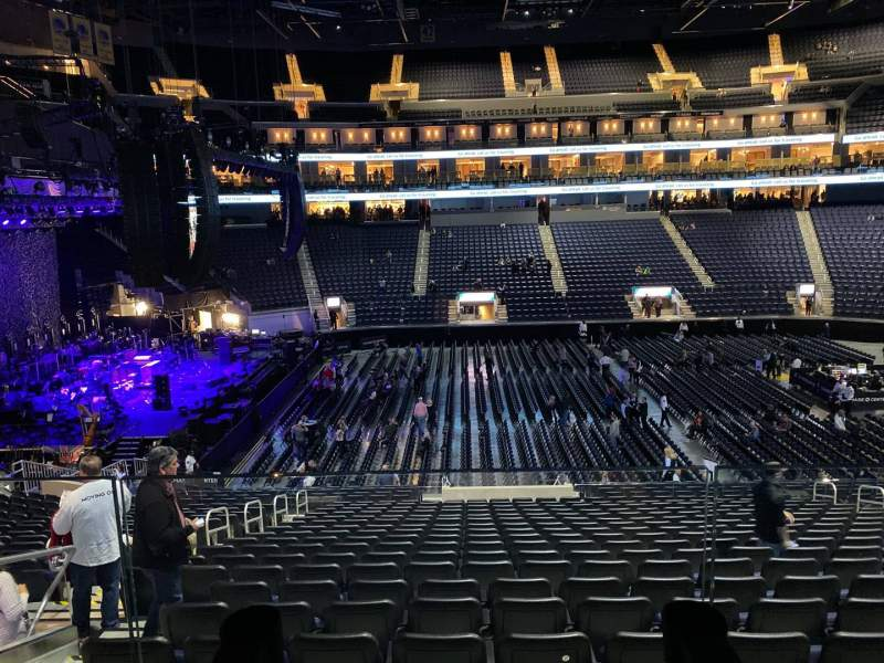 Seating view for Chase Center Section 116 Row Wc Seat 7