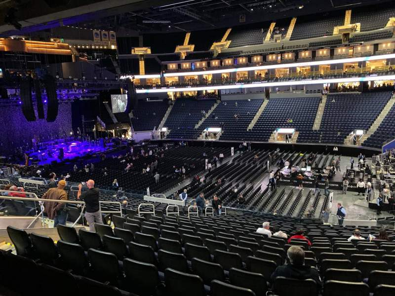 Seating view for Chase Center Section 114 Row 19 Seat 4