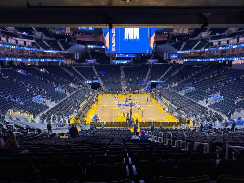 Seating view for Chase Center Section 110 Row 27 Seat 4