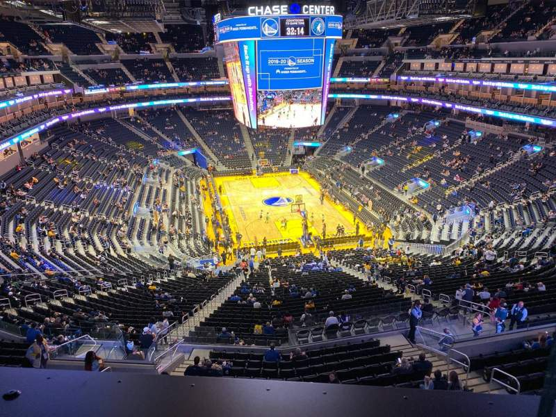 Seating view for Chase Center Section Bridge 3 Row 1 Seat 1