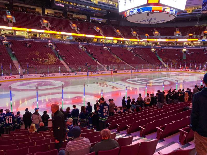 Seating view for Rogers Arena Section 119 Row 13 Seat 106