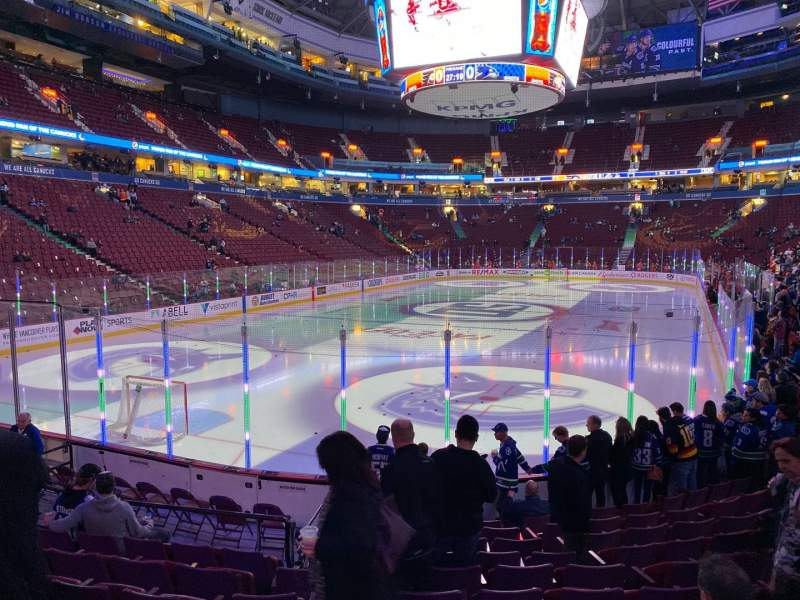 Seating view for Rogers Arena Section 120 Row 11 Seat 11