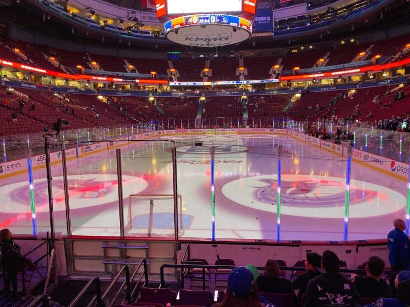 Seating view for Rogers Arena Section 122 Row 9 Seat 105