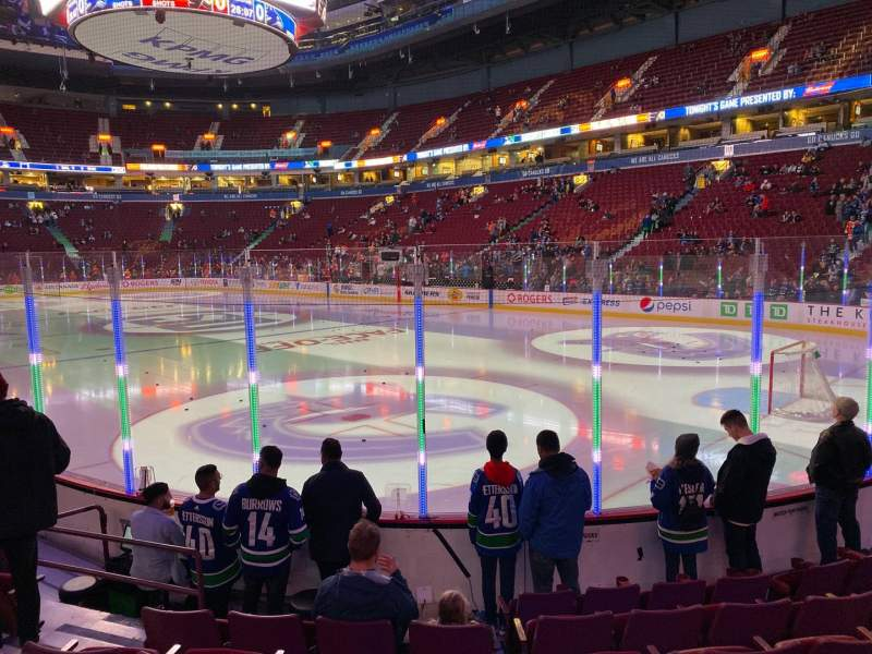 Seating view for Rogers Arena Section 103 Row 7 Seat 6