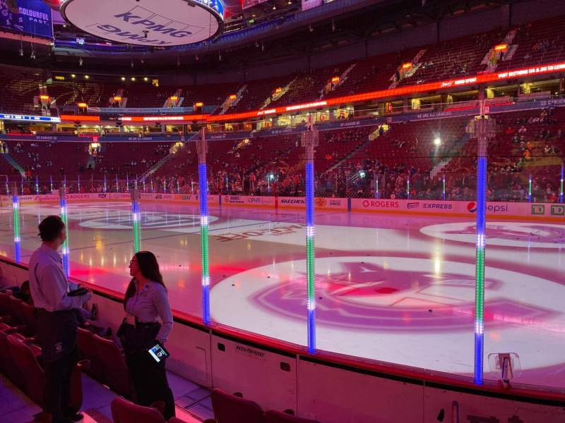 Seating view for Rogers Arena Section 104 Row 5 Seat 5