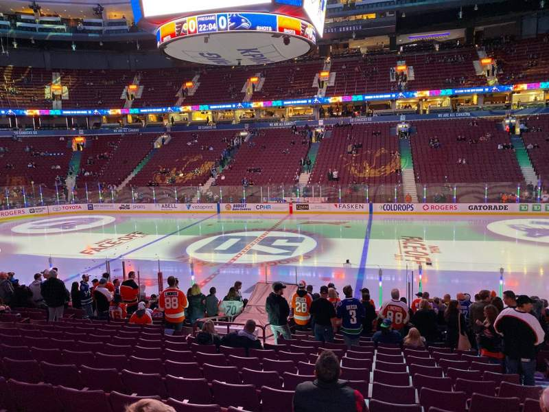 Seating view for Rogers Arena Section 116 Row 17 Seat 104
