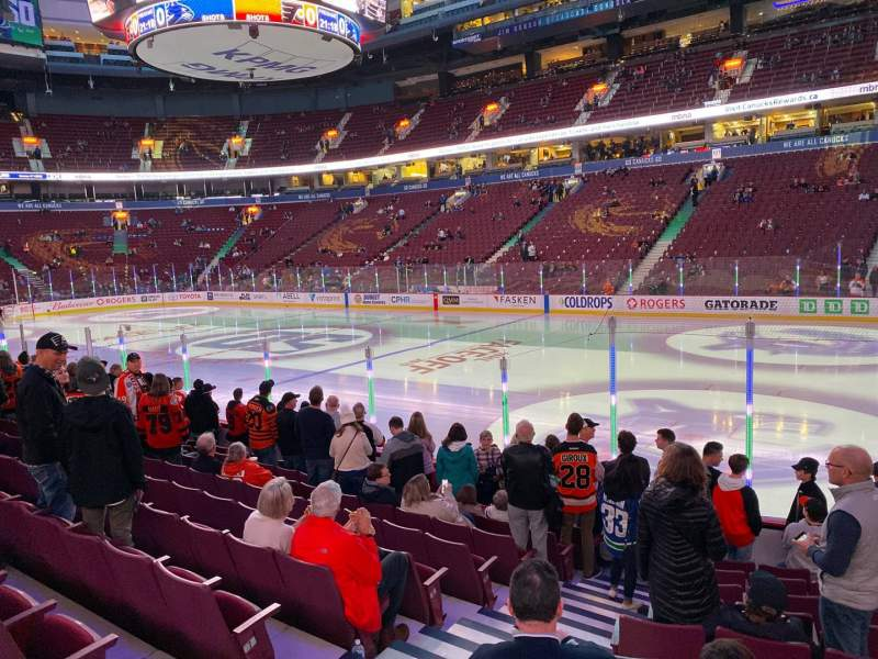 Seating view for Rogers Arena Section 115 Row 10 Seat 3