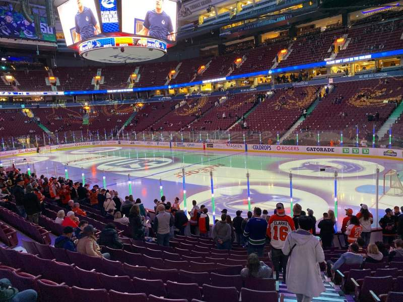 Seating view for Rogers Arena Section 114 Row 14 Seat 101