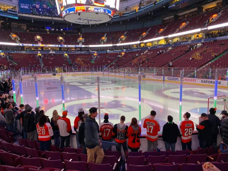 Seating view for Rogers Arena Section 112 Row 8 Seat 112