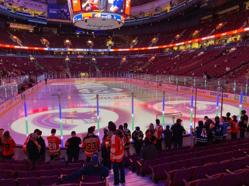Seating view for Rogers Arena Section 112 Row 10 Seat 101