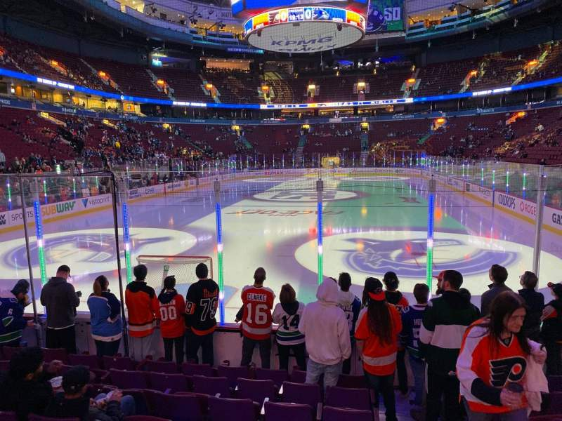Seating view for Rogers Arena Section 111 Row 8 Seat 102