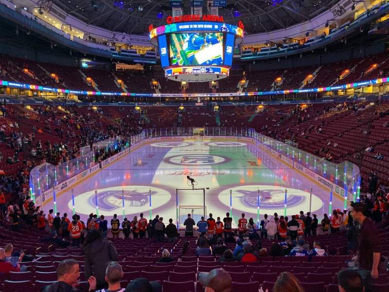 Seating view for Rogers Arena Section 111 Row 20 Seat 109