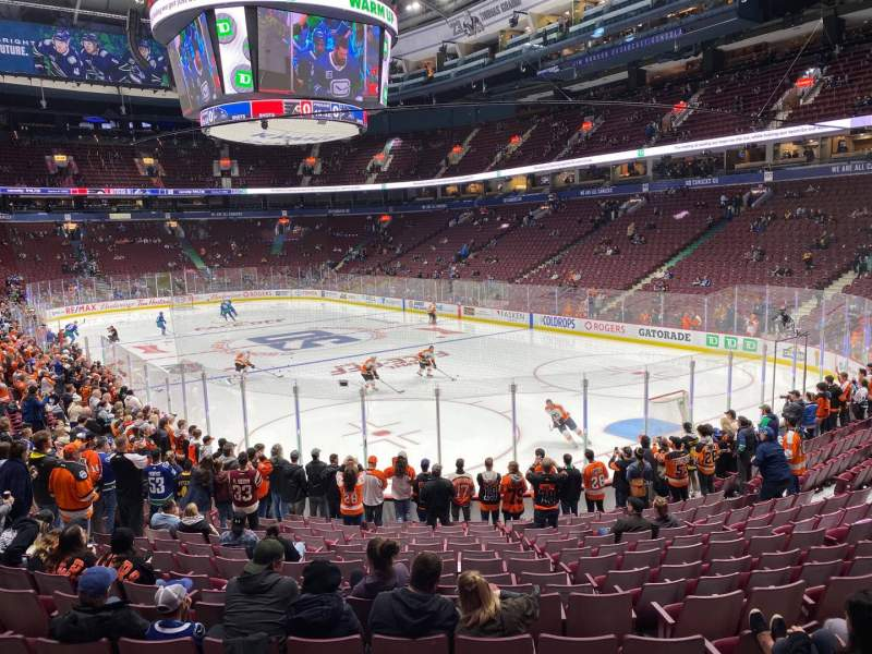 Seating view for Rogers Arena Section 113 Row 16 Seat 104