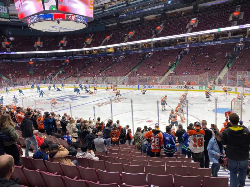 Seating view for Rogers Arena Section 114 Row 13 Seat 104