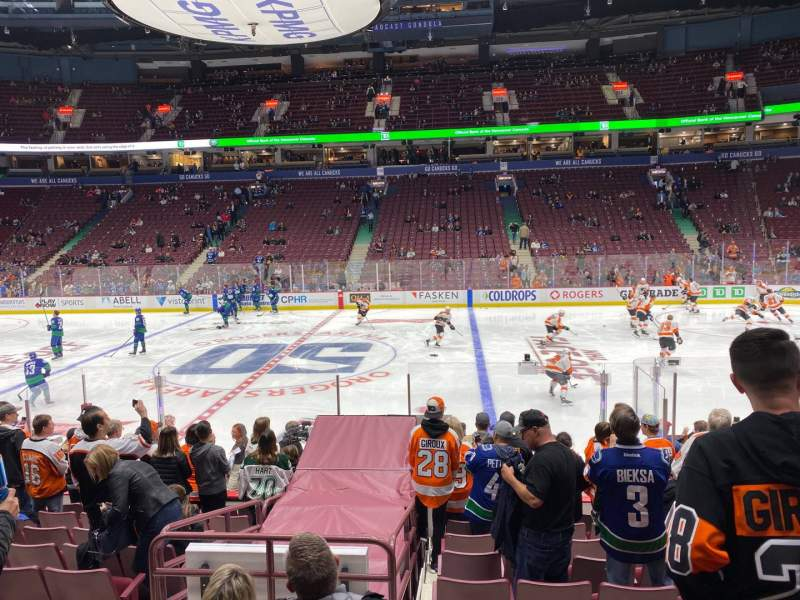 Seating view for Rogers Arena Section 116 Row 12 Seat 107