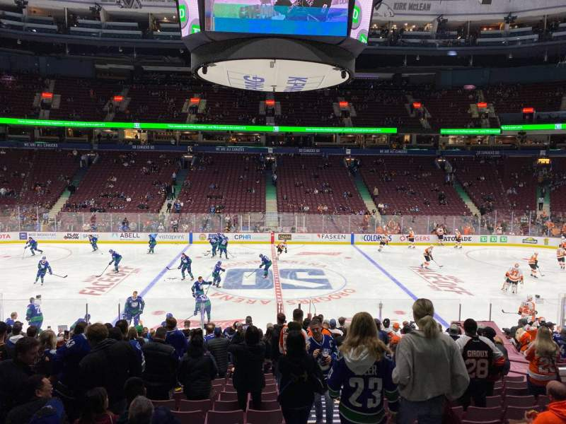 Seating view for Rogers Arena Section 117 Row 18 Seat 101